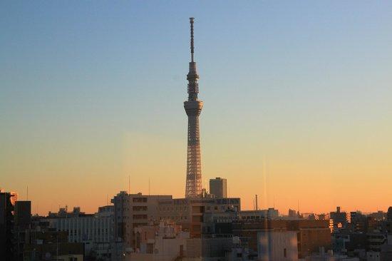 Keikyu EX Inn Asakusabashiekimae: 從房間眺望晴空塔