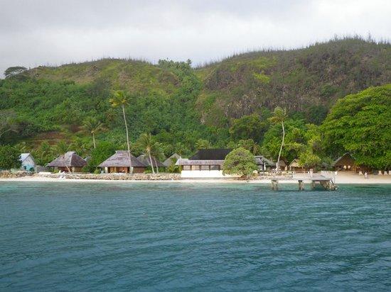 Relais Mahana : hotel view from boat