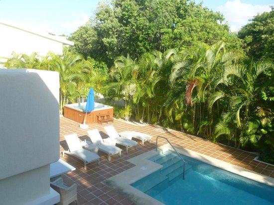 Sandos Playacar Beach Resort: Desde el balcón de la habitación Hacienda Royal