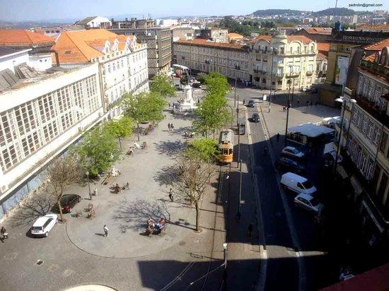 Quality Inn Porto: Praça da Batalha, visto da varanda do apto.