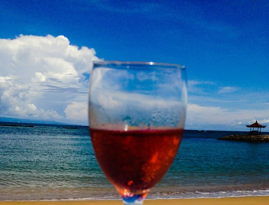 Rose Wine on the Beach of Club Med Bali