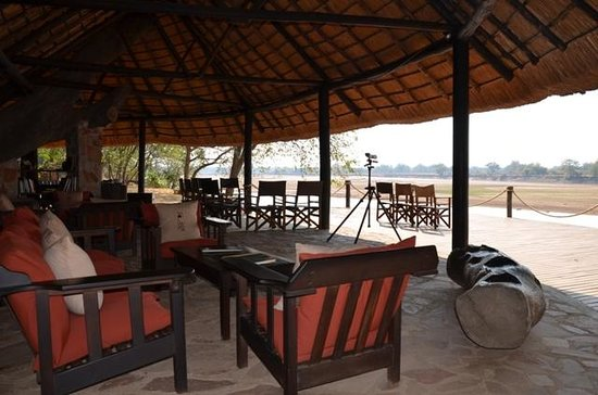 Nkwali Camp: Viewing Deck Main Lounge