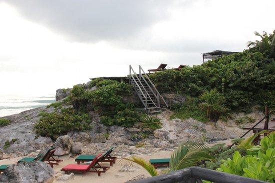 Posada Punta Piedra: Way To A Small Elevation Where They Also Had A Spa (I Think)