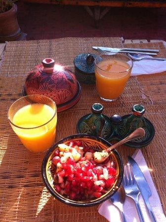 Casa Guapa de Tamuziga: Frisch gepresster Orangensaft...