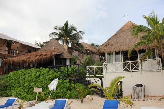 Posada Punta Piedra: View Of Hotel From Beach