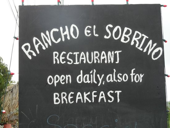 Rancho El Sobrino Restaurant: You are welcome..