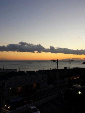 Prego Hayama : 三階のテラスからの夕焼けです