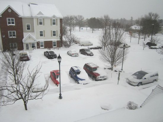 "Candlewood Suites Portland - Scarborough: On the morning after 15"" of snowfall"