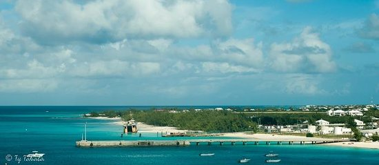 Oasis Divers : The view of Grand Turk from our balcony, on board the Carnival Conquest.