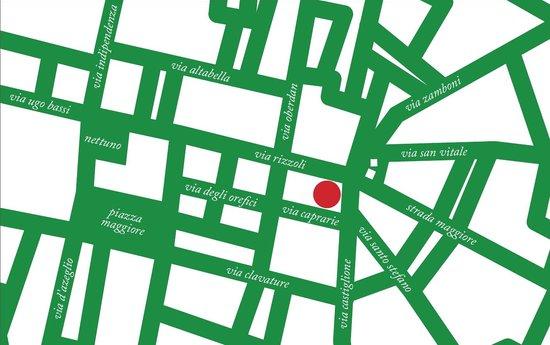 Albergo Garisenda: map