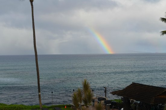 Noelani Condominium Resort : The view of the rainbow from our room