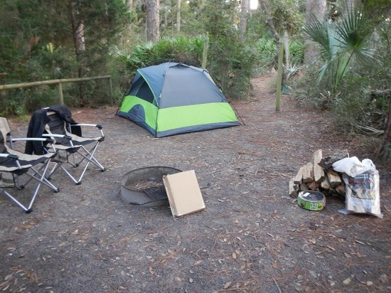 Little Talbot Island State Park : Camp Site