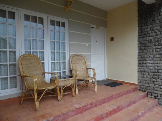 The Siena Village: The sit-out in the standard rooms