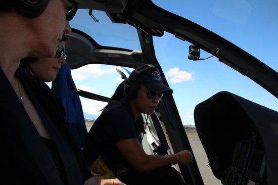 Blue Hawaiian Helicopters - Oahu: Inside the helicopter