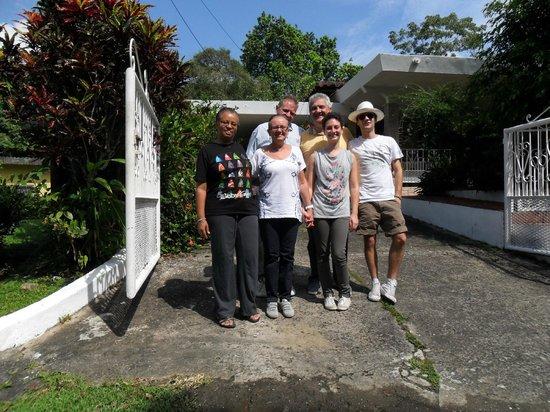 Con Ulrich ed Argelis a Casa Anita