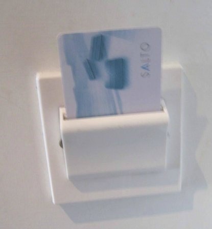 The d Hotel Drogheda: Room key to keep light on in room