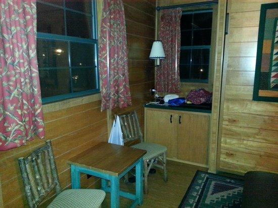 The Campsites at Disney's Fort Wilderness Resort : livingroom storage next to murphy bed