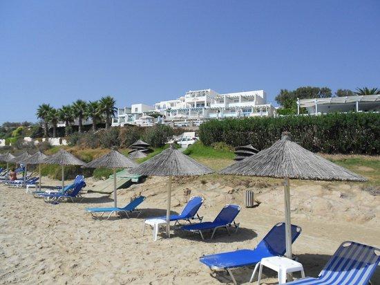 Saint George Hotel: Blick vom Strand auf das Hotel