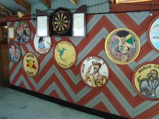 Pushcart Restaurant &  Bar: Wall of Pushcart