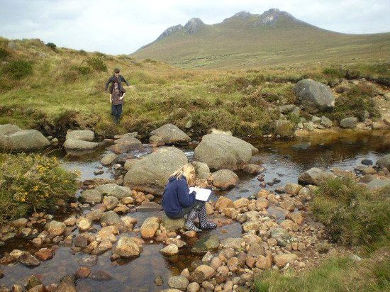 County Down, UK: GCSE Geography fieldstudy, Rocky river