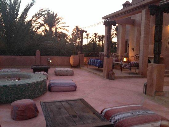 Dar Liqama: Upstairs lounge for sunset drinks