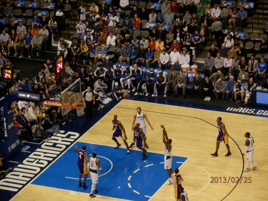 American Airlines Center: Mt first NBA experience
