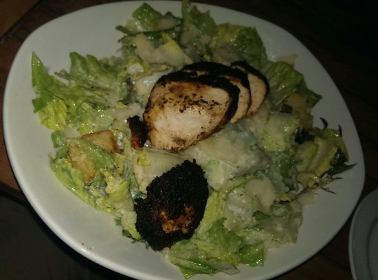 The Grand Marlin of Pensacola Beach: Caesar salad with Blackened chicken