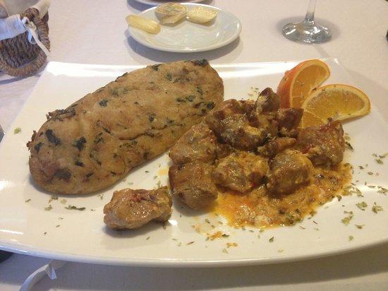 Hortelã da Ribeira, A Descoberta: Migas com carne do alguidar.
