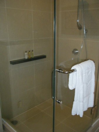 Shangri-La's Tanjung Aru Resort & Spa: the shower in our room