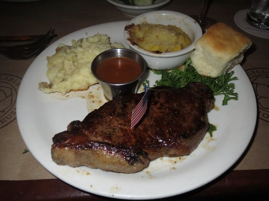Ted's Montana Grill: Bison Kansas City Strip 11 oz