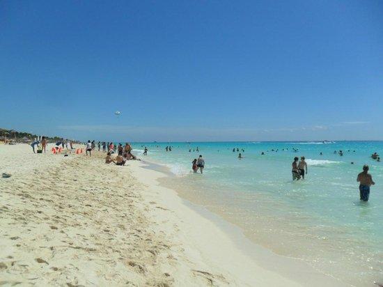 Sandos Playacar Beach Resort: the beach