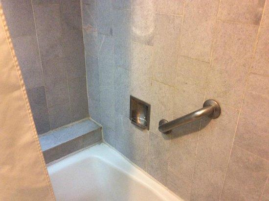 Quality Inn & Suites Saltillo Eurotel : Bañera, con acabados viejos de mármol