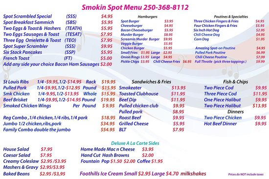 Smokin' Bluz 'n BBQ: our menu is open for suggestions