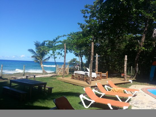 Cabarete Maravilla Eco Lodge & Beach: new deck on the beach