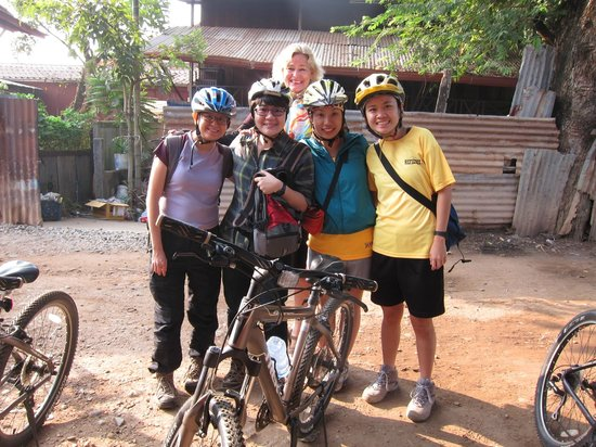 Vientiane ByCycle: Us and Aline