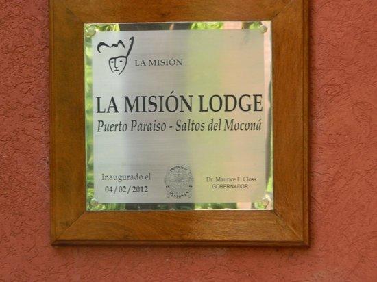 La Mision Mocona | Lodge de Selva : Cartel de entrada