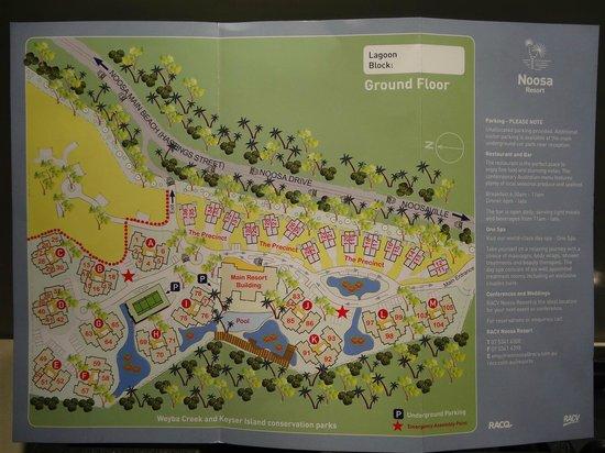 RACV Noosa Resort: Resort map