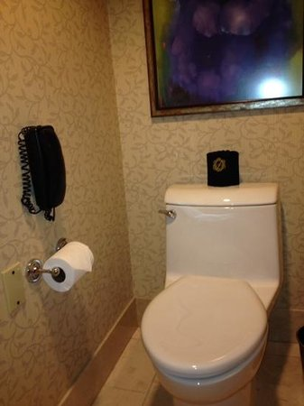 The Duke Hotel Newport Beach: the throne,in a small room within the bathroom