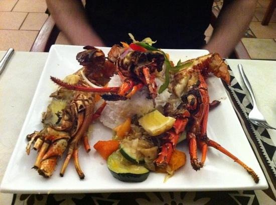 Fiji Hideaway Resort & Spa : fresh lobster.