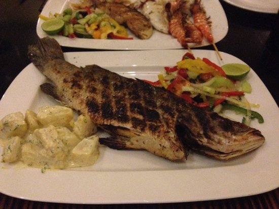 The Grill House : I am sure this is not a snapper. More like a seabass