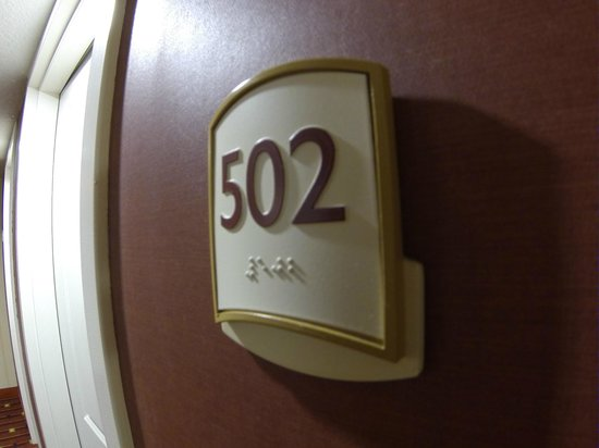 Residence Inn Orlando Airport: My Room Number