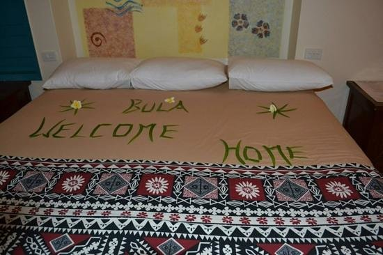 Fiji Hideaway Resort & Spa: a nice touch to our welcome