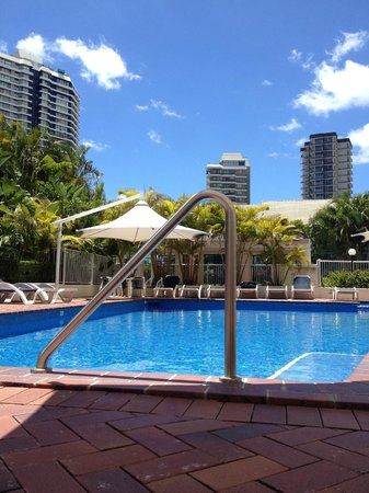 The Crest Apartments: Pool side view