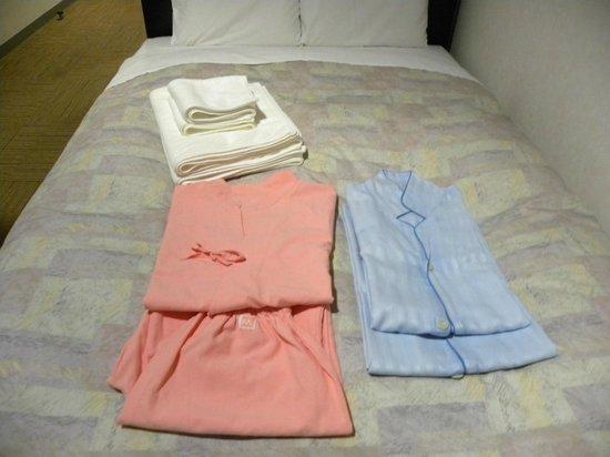 Matsuyama New Grand Hotel: 女性はサムイが借りれます。