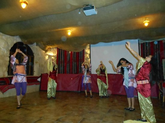 Young Dancers entertaining the diners at The Tent Restaurant in Beit Sahour