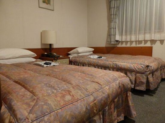 Reisenkaku Hotel Ekimae : 広さはベットぎちぎちの窮屈ではありません