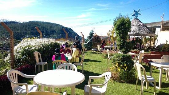 Delightz Inn Resorts: Breakfast at the lawns. Beautiful view.