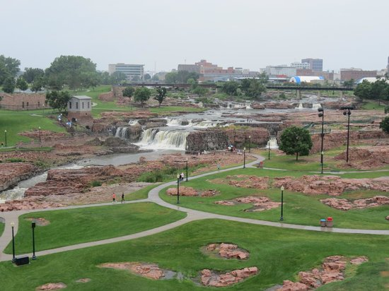 Falls Park from the observation tower.