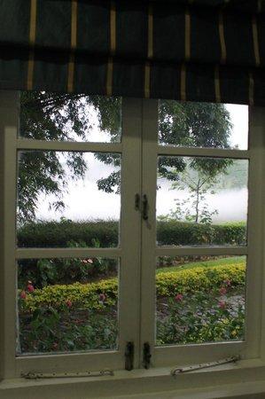 Mandira Bungalows: Early morning fog greets you through the windows