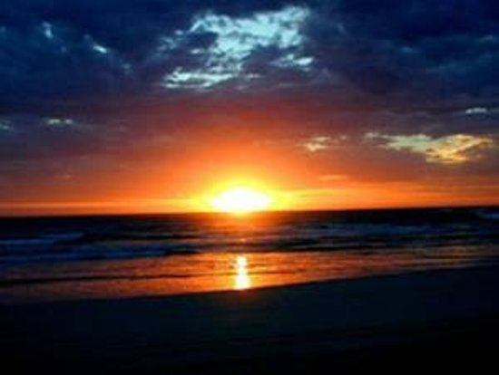 Beachport Motor Inn: Brilliant sunset over the Rivilo Bay, Beachport
